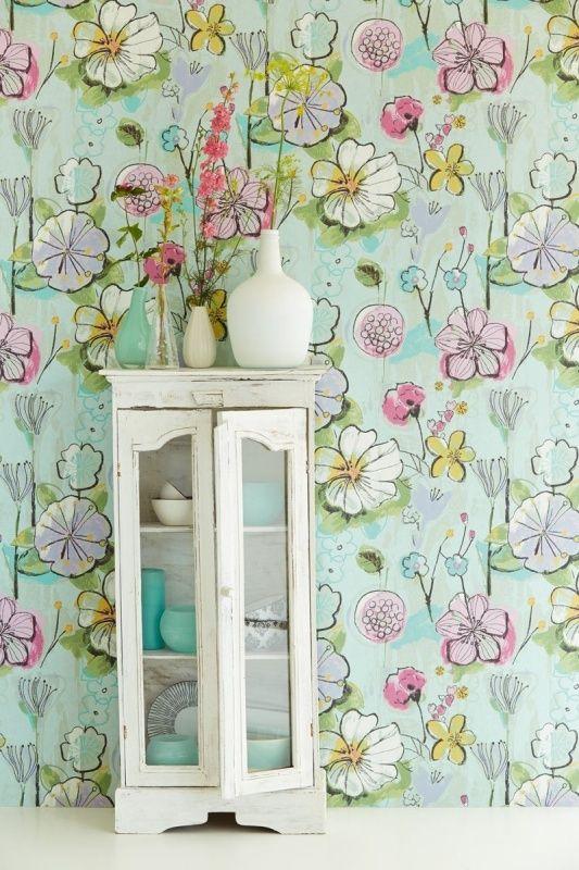 Eijffinger Bloom behang 340033 | Bloem behang | www.behangwereld.nl