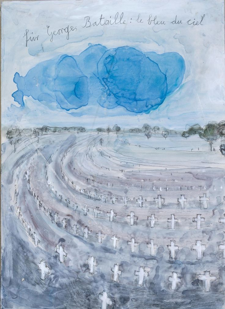 'For Georges Bataille: The Blue Sky' 2013 Anselm Kiefer. Royal Academy of Arts, London.