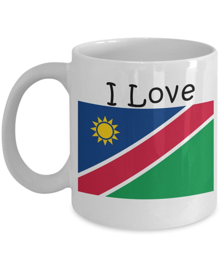 I Love Namibia Coffee Mug With A Flag