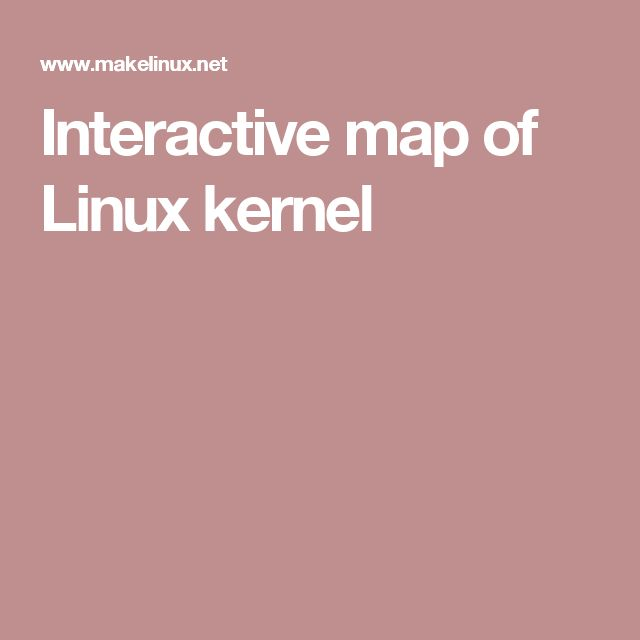 Interactive map of Linux kernel