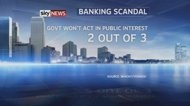 FOUR IN FIVE WANT BANKERS PROSECUTED. Four out of five people want individuals to be prosecuted when banks break the law, according to a new survey.    Research by consumer watchdog Which? also showed that two-thirds of people believe the Government will not act in their best interests when implementing banking reform.    And only one in five think the Financial Services Authority is effective in regulating UK banks.