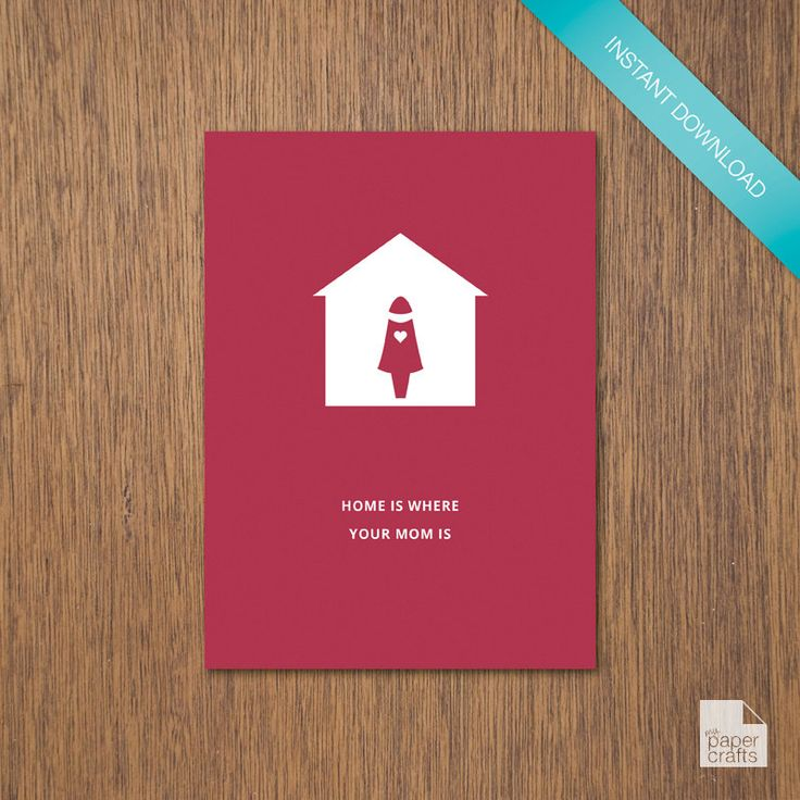Home is Where Mom (or Mum) is - Cherry | DIY Printable by myPaperCraftsau on Etsy
