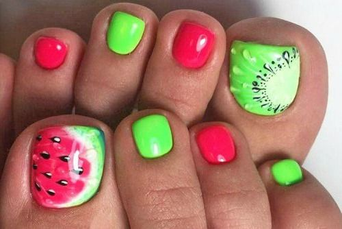 Check out these super cute toe nail designs you'll totally fall in love with! From super bright and colorful to fruit designs, these are calling your name!