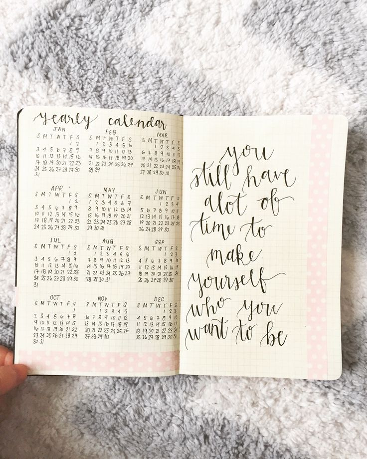 "wandurlusting: "" Finally set up my 2016 bullet journal, and started planning for next week  """