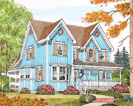 Plan 43071pf Charming Gothic Revival Farmhouse House