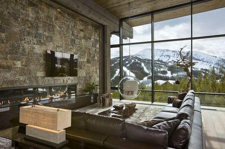 Decor Salteado - Blog de Decoração e Arquitetura : 20 Salas de tv com lareira – tendência do momento! Veja modelos e dicas!