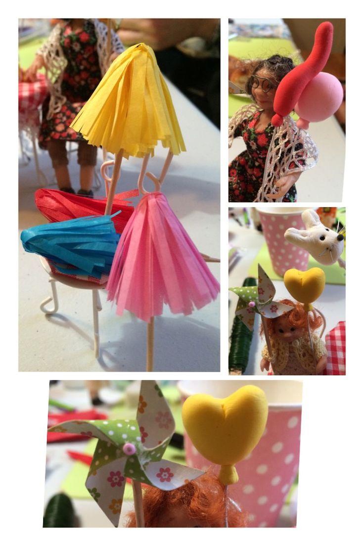 🎉 Vapputeemalla 🎈silkkipaperista vappuhuiskia, Silk Clay massasta ilmapalloja ja pienikuvioisesta paperista hyrriä ❣