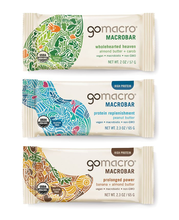 Pearlfisher has completed a redesign of the GoMacro brand including the brand identity and packaging graphics for the core MacroBar range – macrobiotic and vegan energy bars.