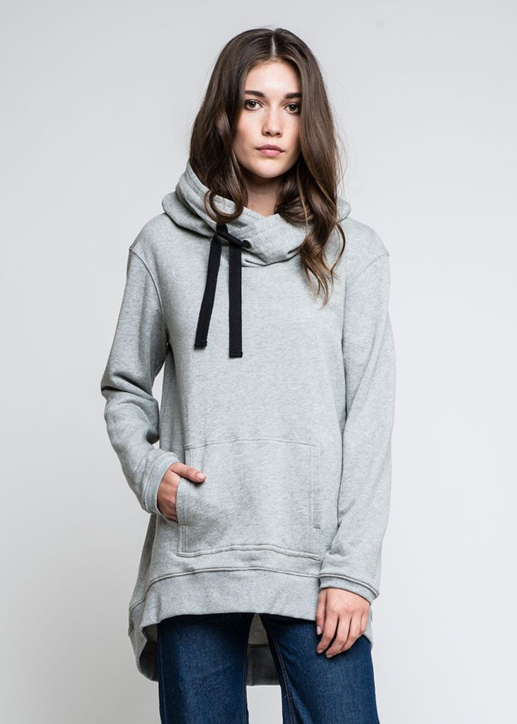 Cush Women's Hoodie. Taking comfort to a stylish level. The Cush Women's Hoodie is an easy fit, cut shorter at the front with a longer hem. Team it with our Men's Terry Trackers for the most stylish Tracksuit out.    - 100% cotton terry jersey  - Crossover neck hoodie #consciousfashion #madeinbaliwithlove