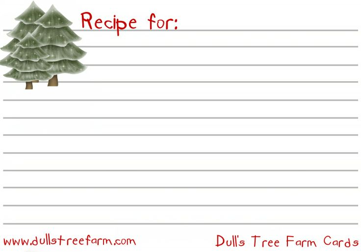 Treereceipejpg 15001050 Recipe Card Pinterest