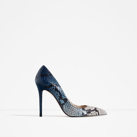 ZARA - WOMAN - EMBOSSED LEATHER HIGH HEEL SHOES $119