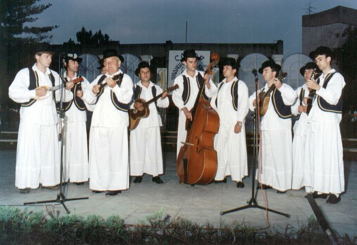 tamburitza band from Vojvodina, in traditional national costumes