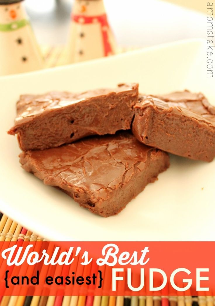 World's best (and easiest) fudge recipe! Needs just 3 easy ingredients and a few optional add-ins, if you want to make Rocky Road fudge! Plus, you can make it in the microwave!