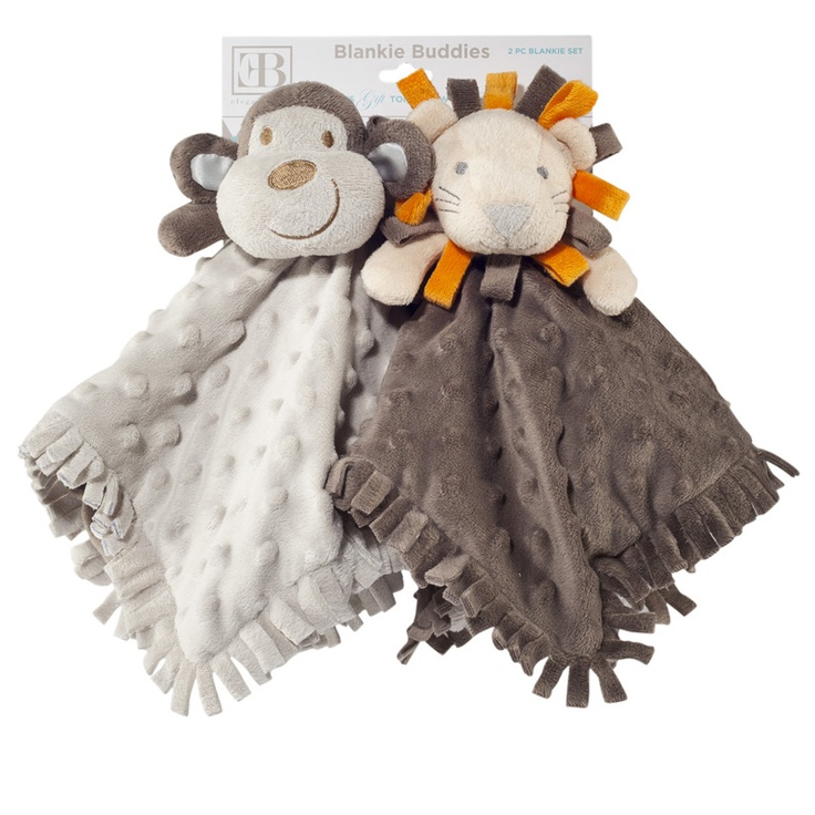 Baby Blankie Buddies - what a cute gift! $29