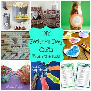 AWESOME List of DIY Father's Day Gifts from the Kids. Easy, Personalized, and Affordable. Frames with Washers, Personal Letters written with Candybars, Duct Tape Crown for the King, and more!