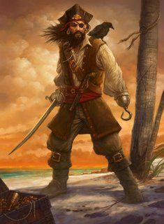 Diário de bordo de Jowfish Kraken.   Terça-feira, 15 de abril de 2014.   *TEMA SUGERIDO PELA LEITORA DEBEE *       Desenho de um pirata co...