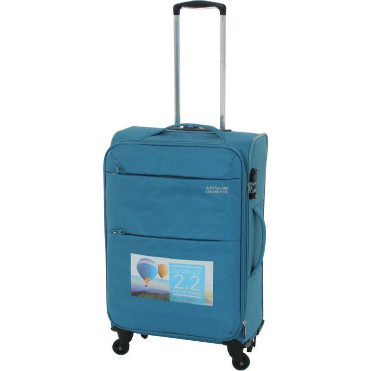 Aus Luggage So Lite 2.0 4 Wheel Suitcase in Teal   Buy 4 Wheel Suitcases