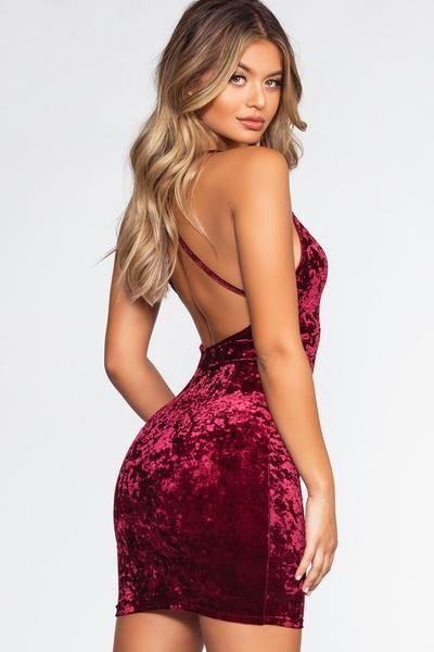 Major Crush Velvet Dress - Burgundy – Shop Priceless