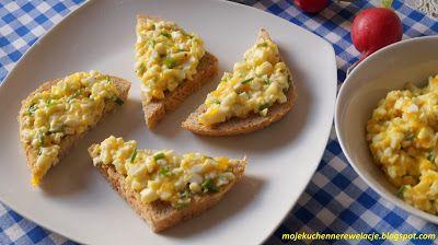 Moje                                                                       Kuchenne Rewelacje  : Fit pasta jajeczna ze szczypiorkiem (bez majonezu)...