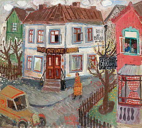 """OLLE OLSSON-HAGALUND, """"Vita huset"""".. - Höstens Moderna Auktion, Stockholm 563 – Bukowskis"""