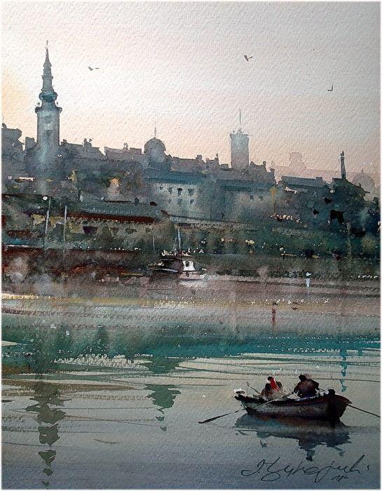 Dusan Djukaric   Watercolor, 31x39 cm