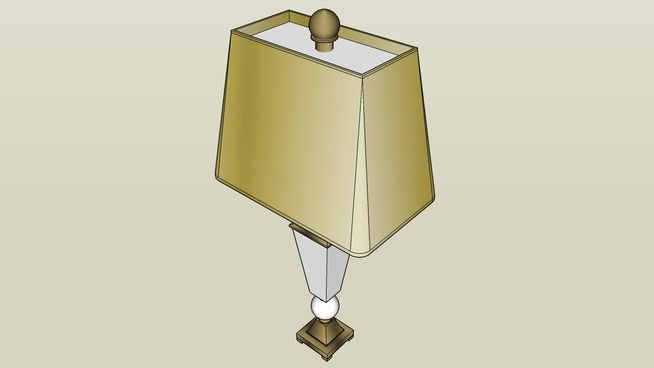 Table Lamp - White Ceramic & Bronze - 3D Warehouse