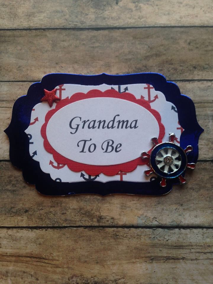 ahoy its a boy grandma to be corsage nautical mommy to be corsage nautical baby shower corsage badge