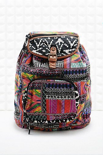 Multi-Print Patterned Backpack  - Urban Outfitters