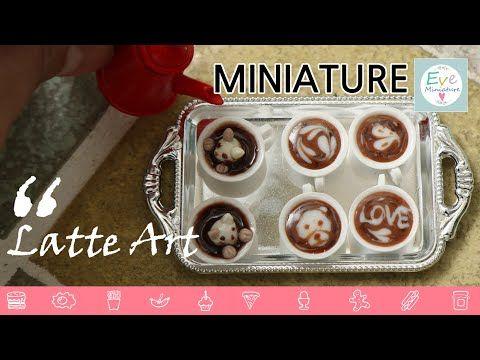 미니어쳐 커피 라떼아트 만들기 Miniature Coffee ratte art (바리스타 되보자~) - YouTube