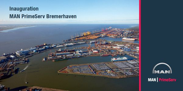 """Today there's a """"Welcome Home"""" feeling in Bremerhaven, Germany as MAN