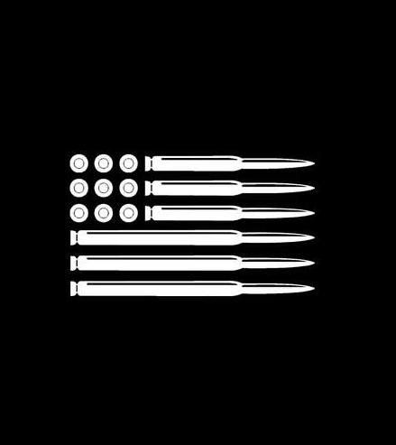 American Flag Bullets - Vinyl Decal Choose Size and Color Made with 100% Automotive Grade Vinyl.