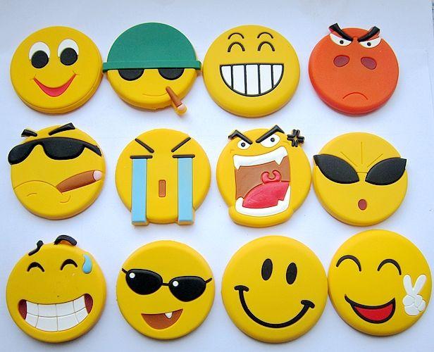 Free shipping Cartoon smiley face  pvc  fridge magnets blackboard stickers children's intelligence toys