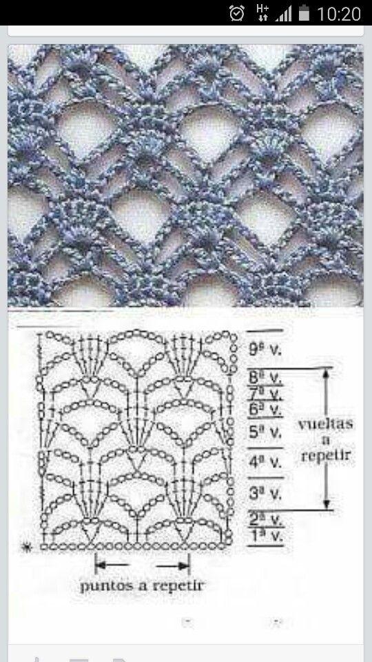 #haken, gratis teltekening, haakschema, steek, techniek, shawl, #crochet, free chart, diagram, stitch, technique