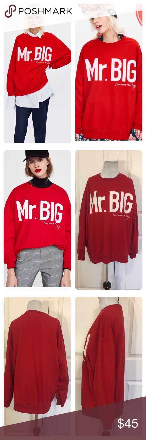 8b11a326 Zara Sex and the City Mr. Big Sweatshirt | Women Fashion