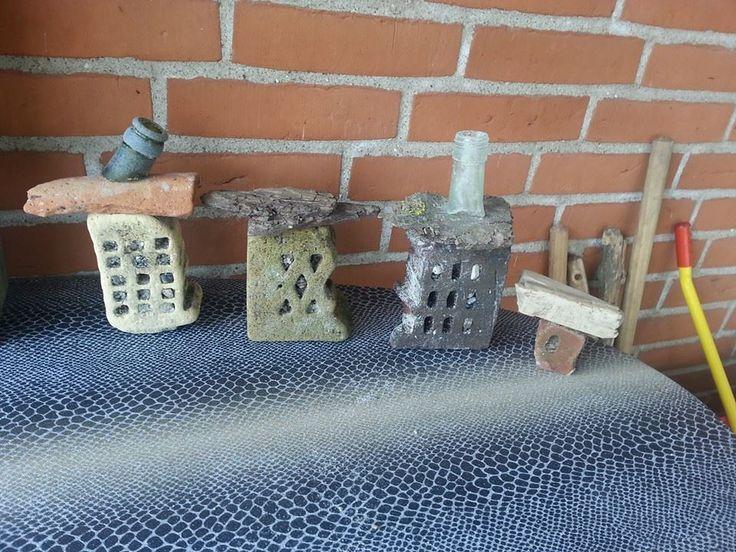 Huse af mursten og flaskehalse