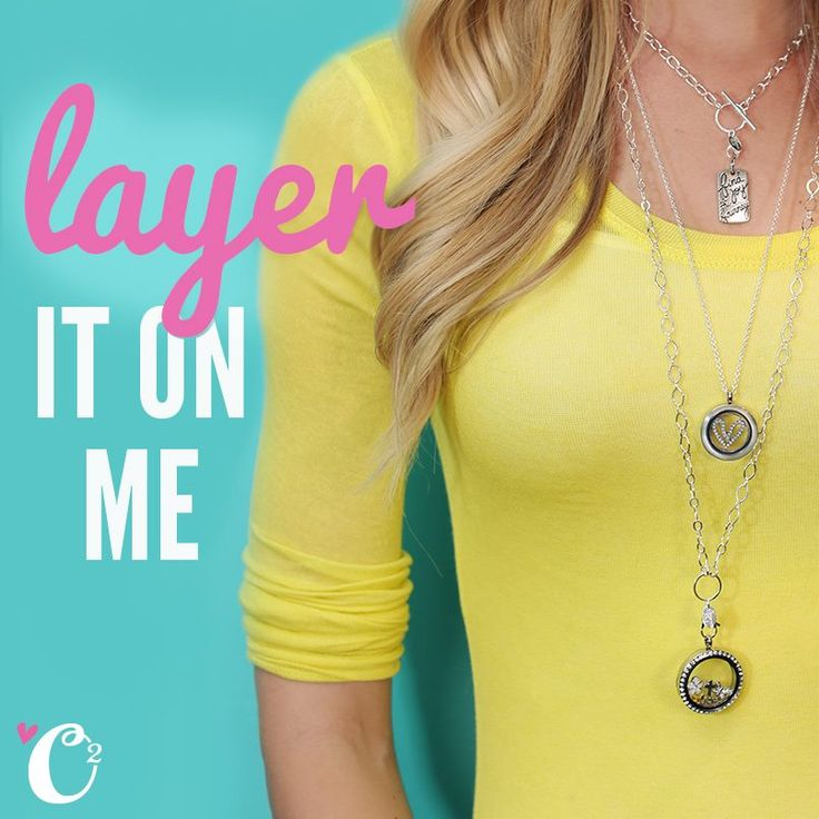 You know what's better than one Origami Owl necklace? Layering two (or three!) of them for a super chic look. Staci Longest #5229