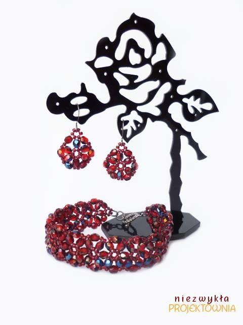 Komplet z kryształków #FirePolish i koralików #Toho. #beading #handmadejewellery https://www.facebook.com/NiezwyklaProjektownia