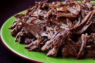 Crockpot Shredded Mexican Beef. I added a little more seasoning than it calls for
