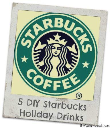 5 DIY Starbucks Holiday Drinks #copycat #starbucks