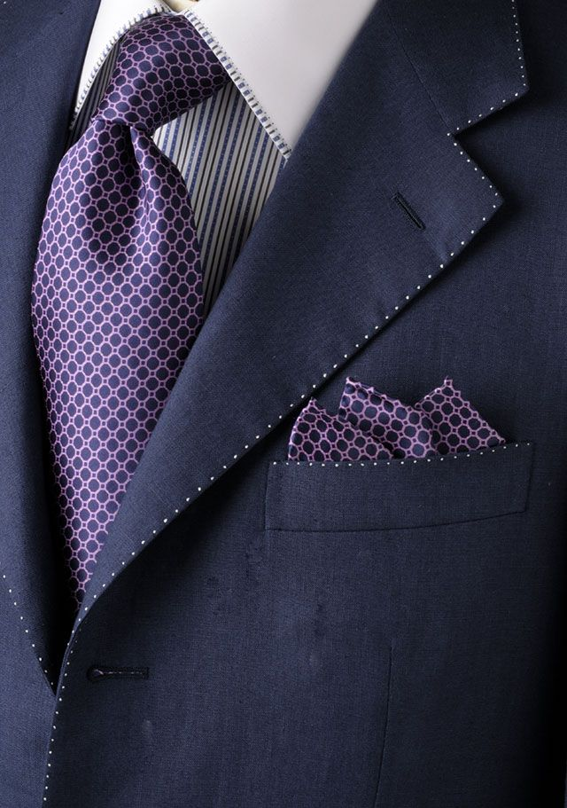 Richards Street Mens Ties; attention to detail single stitch.