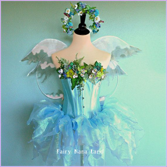 HALLOWEEN costume - Fairy Costume - adult medium - The MOON GARDEN Faerie