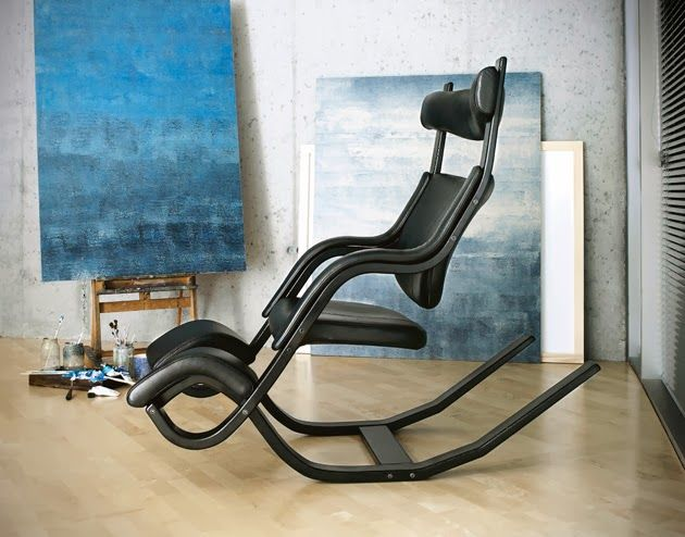 The Original Recliner Gravity Balans By Varier Formerly Stokke Allows The  Body To Change Position From Tasking To Neutral Posture, To Full Zero  Gravity ...