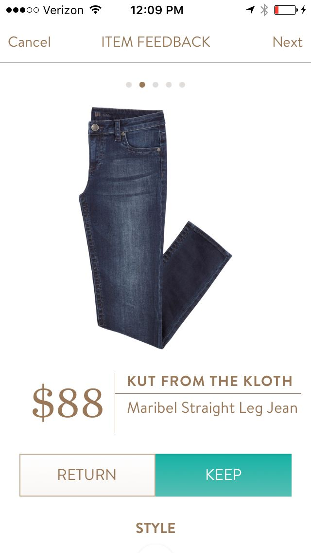 Straight leg jeans are best on me instead of skinny and these don't look like mom jeans!
