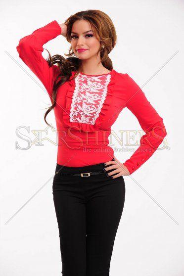 Camasa LaDonna Rustic Fashion Red