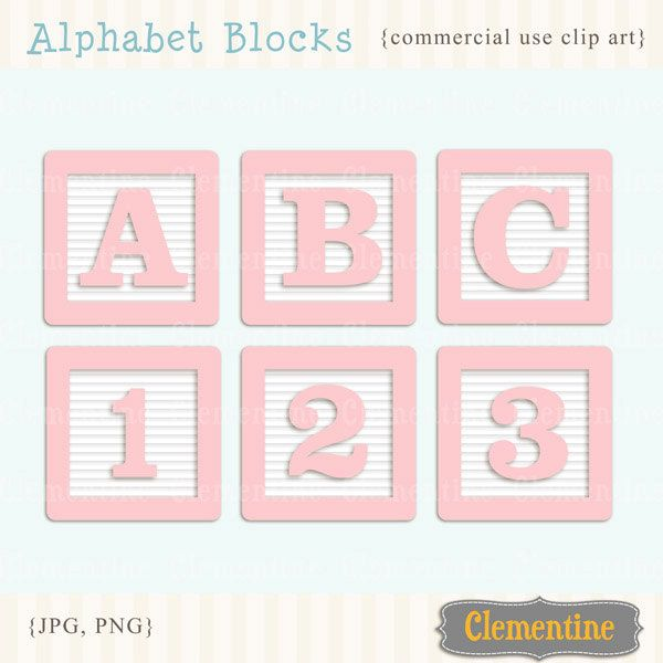 New to ClementineDigitals on Etsy: Pink alphabet blocks clip art images baby blocks clip art alphabet clip art royalty free images- Instant Download (5.00 USD)