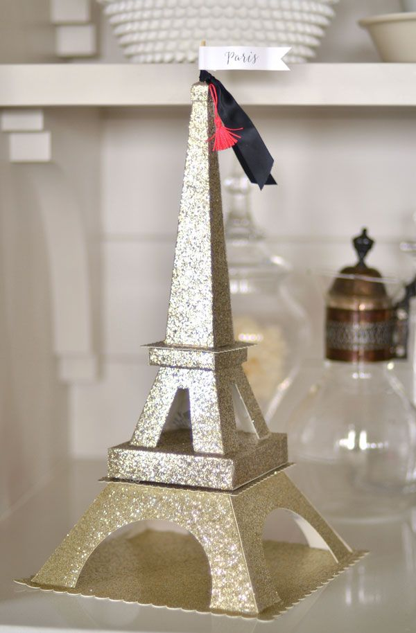 Springtime In Paris – DIY Glitter Eiffel Tower | Jenallyson - The Project Girl - Fun Easy Craft Projects Michaels Makers