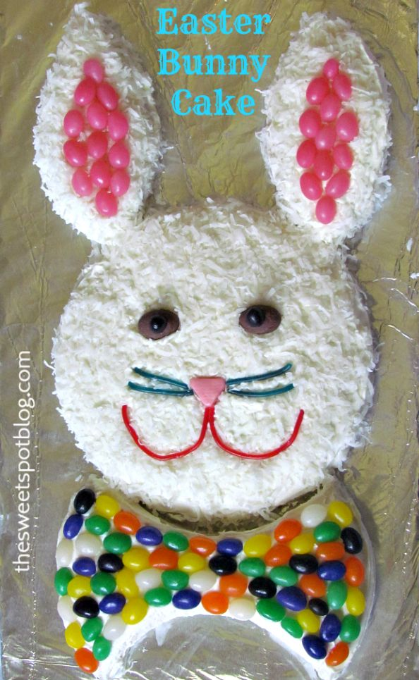 Vintage Easter Bunny Cake by The Sweet Spot Blog