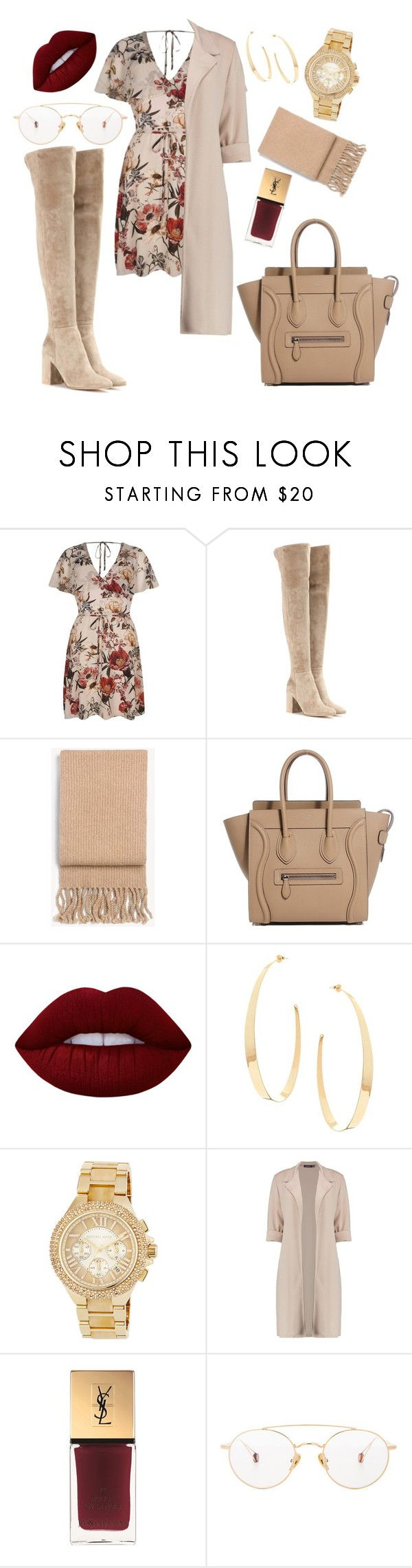 """""""Untitled #438"""" by omgitskaylapope on Polyvore featuring River Island, Gianvito Rossi, rag & bone, Lime Crime, Lana, MICHAEL Michael Kors, Yves Saint Laurent and Ahlem"""