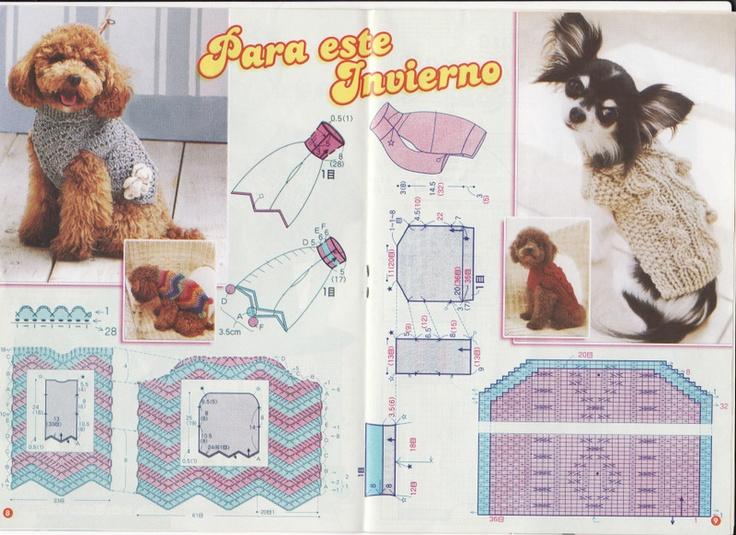Vistoso Perro Ganchillo Ropa Libre Patrones Imagen - Patrón de ...