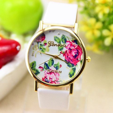 Rose Watch Flower Geneva Watch